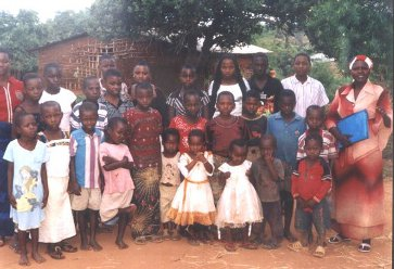 Pastor Helen with some children